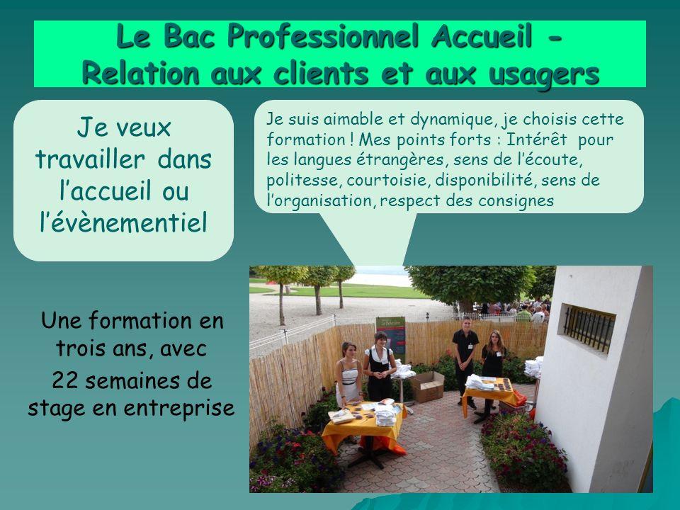 Le Bac Professionnel Accueil - Relation aux clients et aux usagers