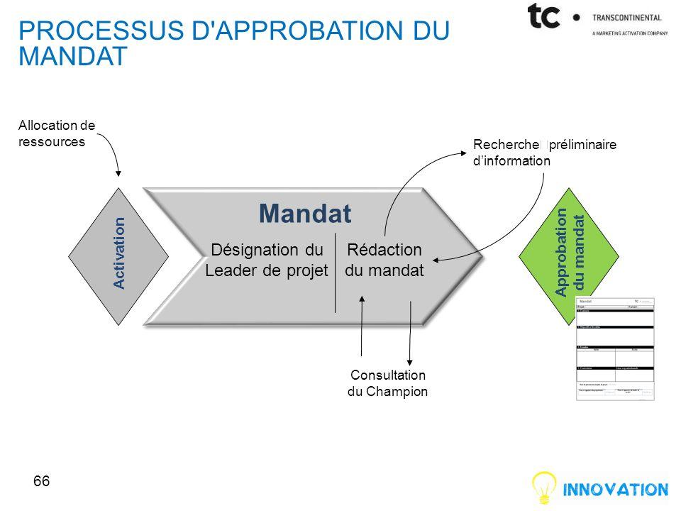 processus d approbation du mandat