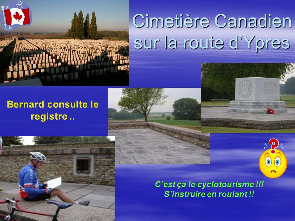 Cimetière Canadien sur la route d'Ypres