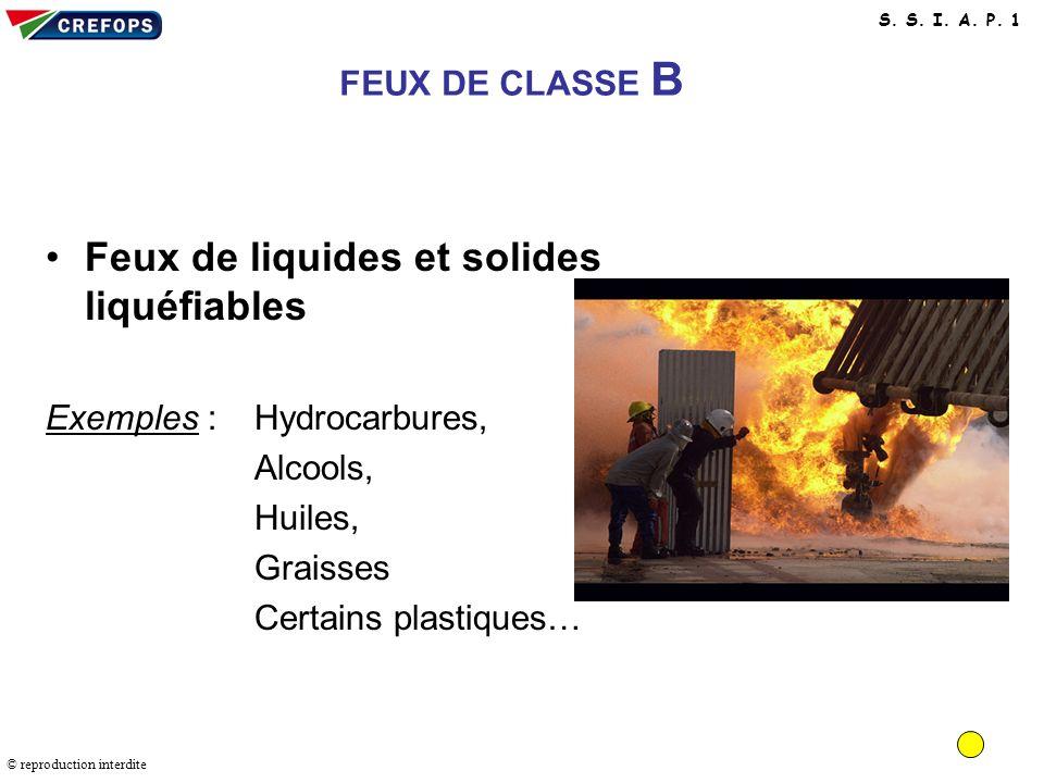 Feux de liquides et solides liquéfiables