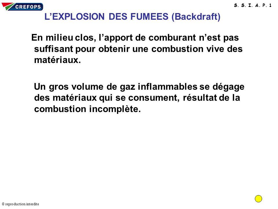 L'EXPLOSION DES FUMEES (Backdraft)