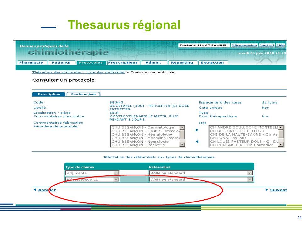 Thesaurus régional
