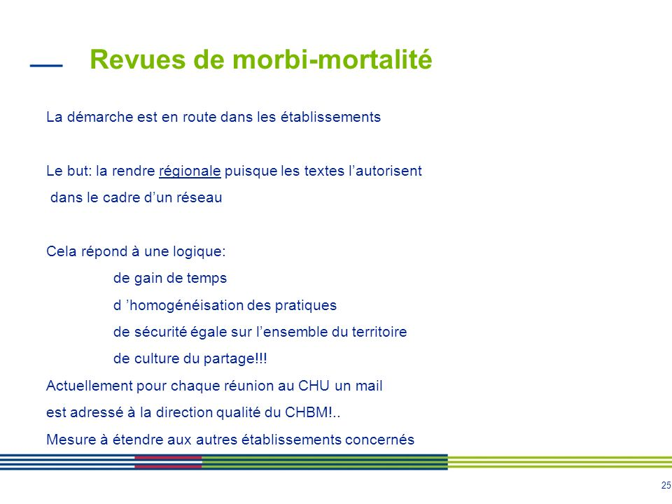 Revues de morbi-mortalité