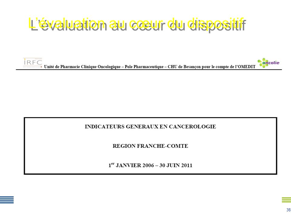 L'évaluation au cœur du dispositif