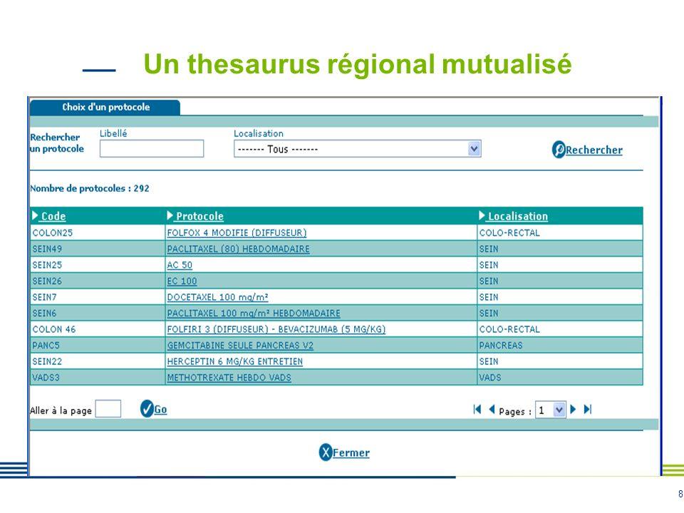 Un thesaurus régional mutualisé