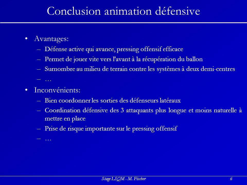 Conclusion animation défensive