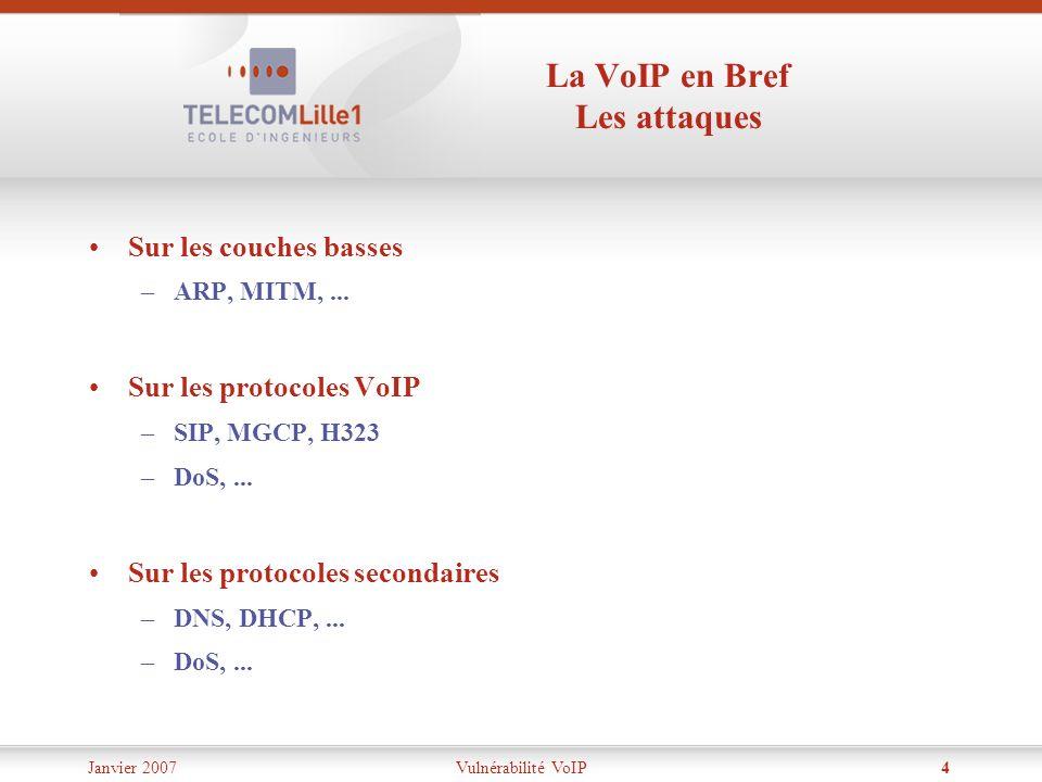 La VoIP en Bref Les attaques