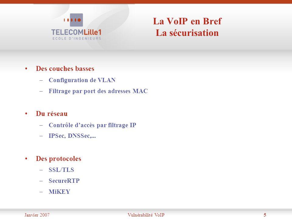 La VoIP en Bref La sécurisation