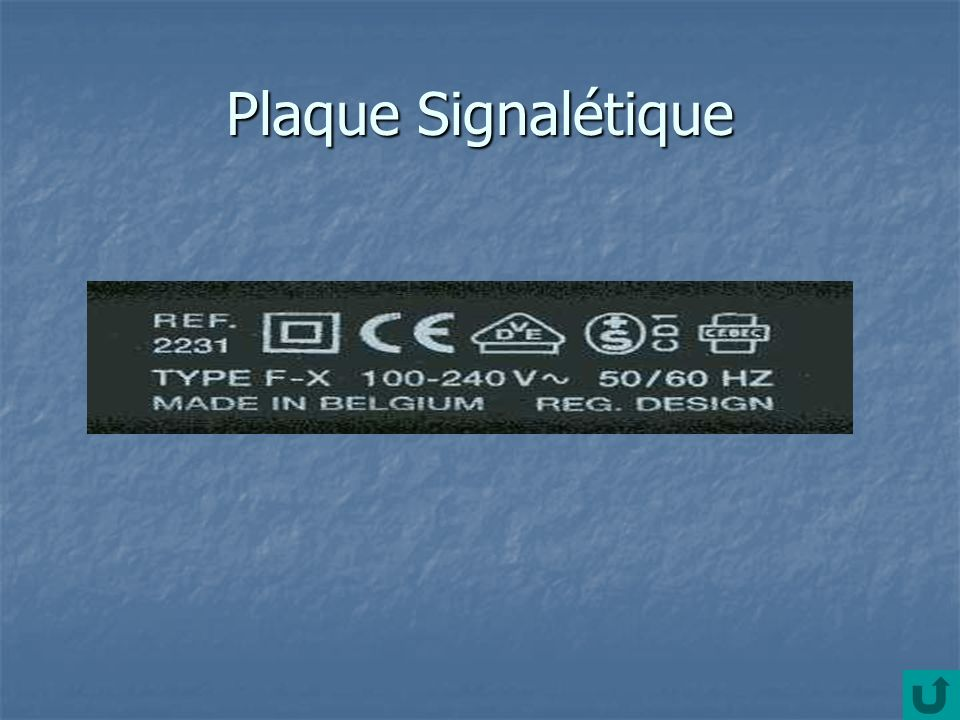Plaque Signalétique
