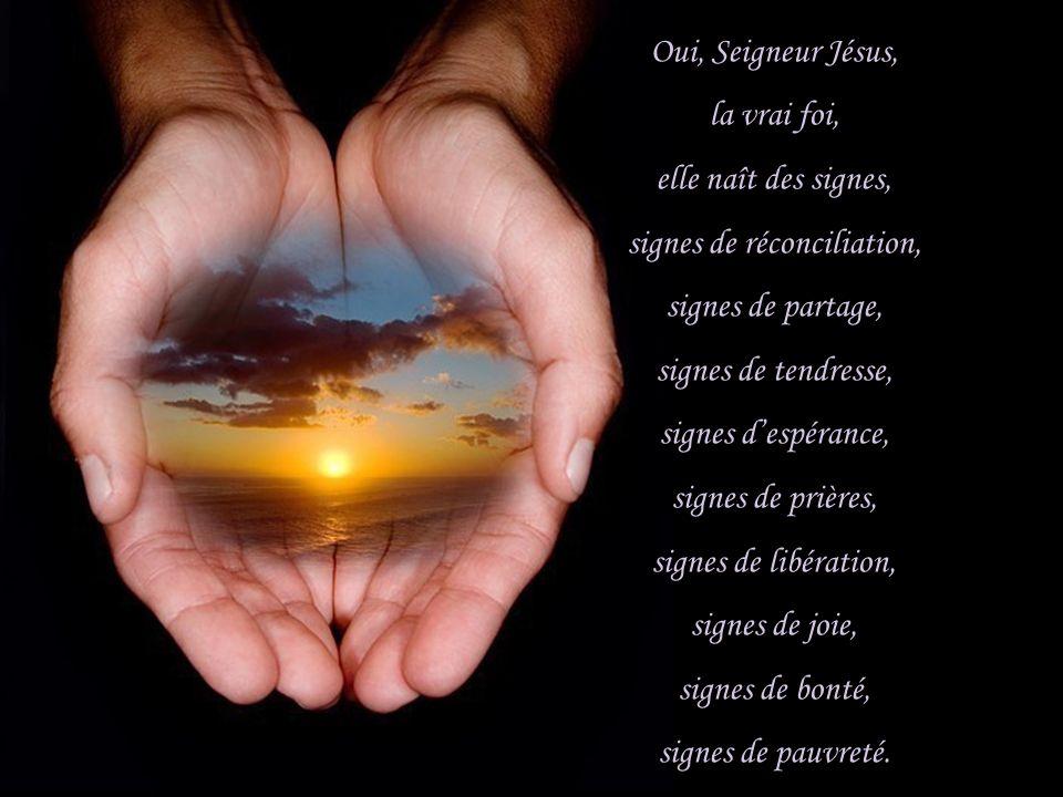 signes de réconciliation,