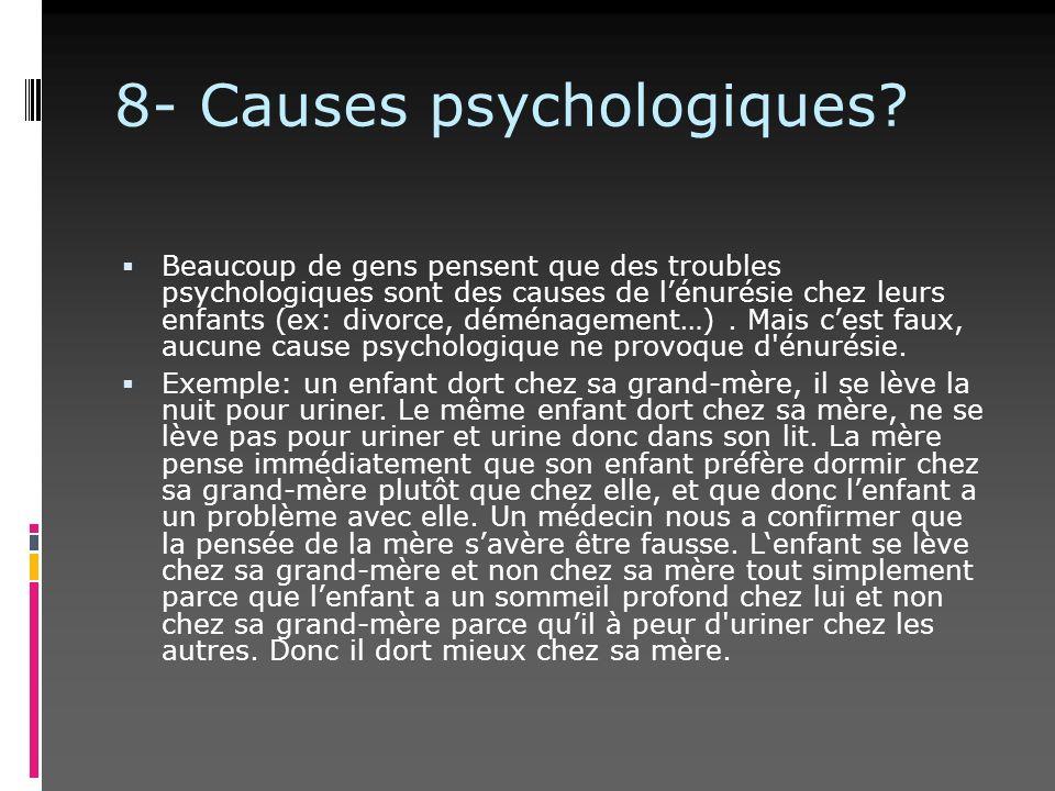 8- Causes psychologiques
