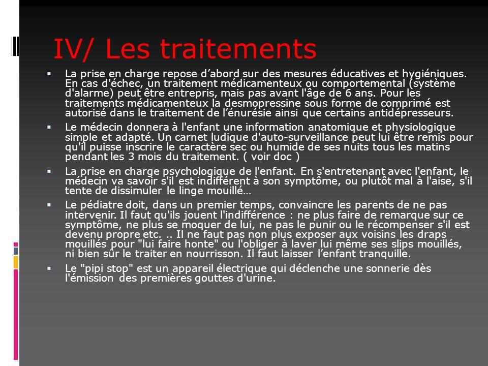 IV/ Les traitements