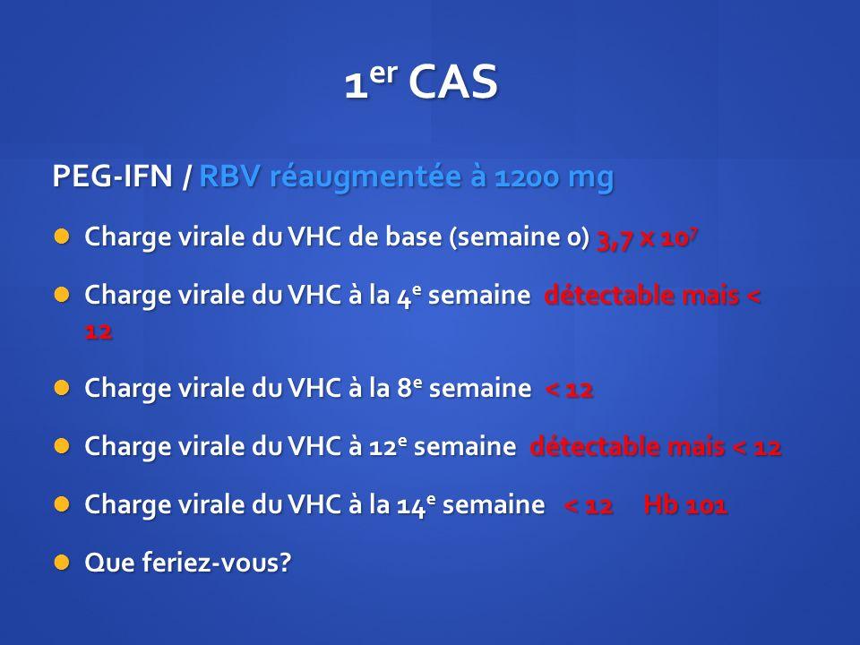 1er CAS PEG-IFN / RBV réaugmentée à 1200 mg