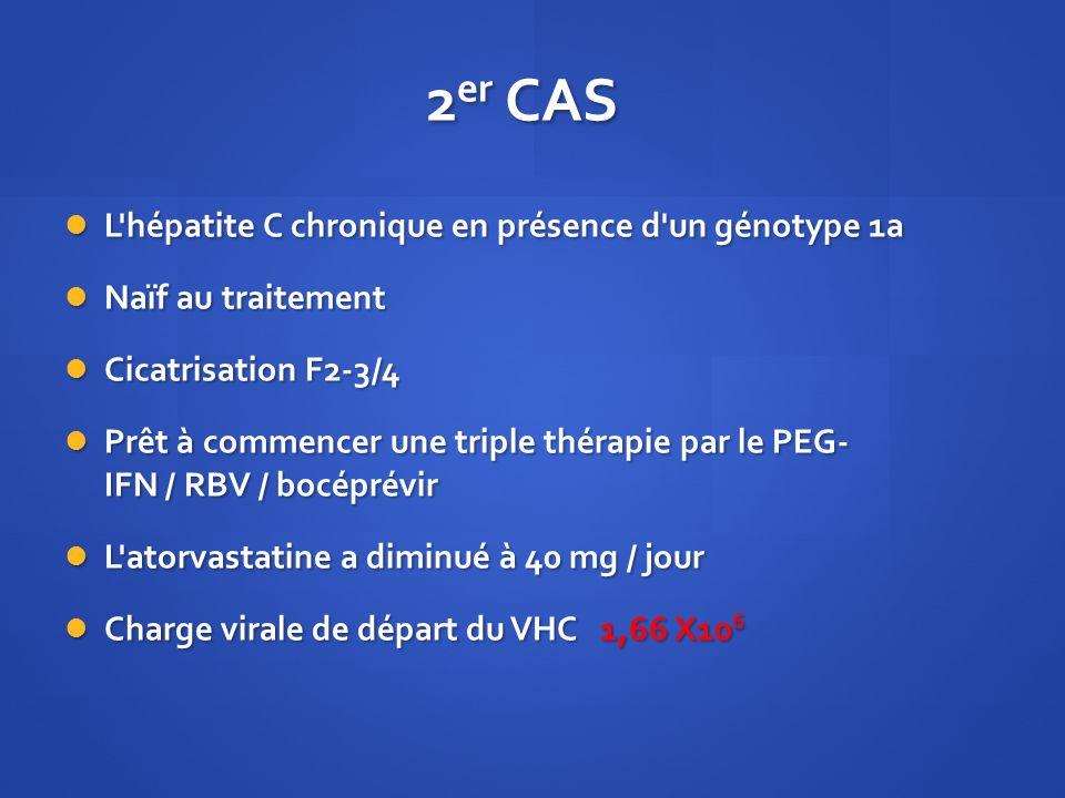 2er CAS L hépatite C chronique en présence d un génotype 1a