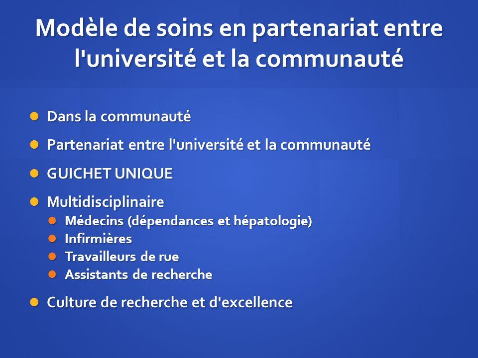 Modèle de soins en partenariat entre l université et la communauté