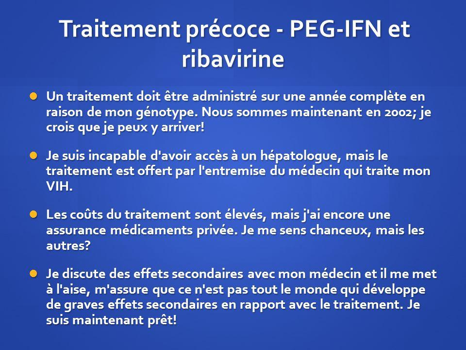 Traitement précoce - PEG-IFN et ribavirine