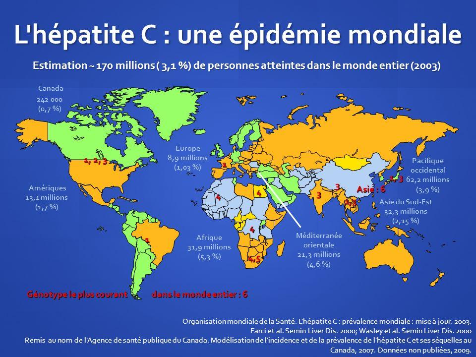 L hépatite C : une épidémie mondiale