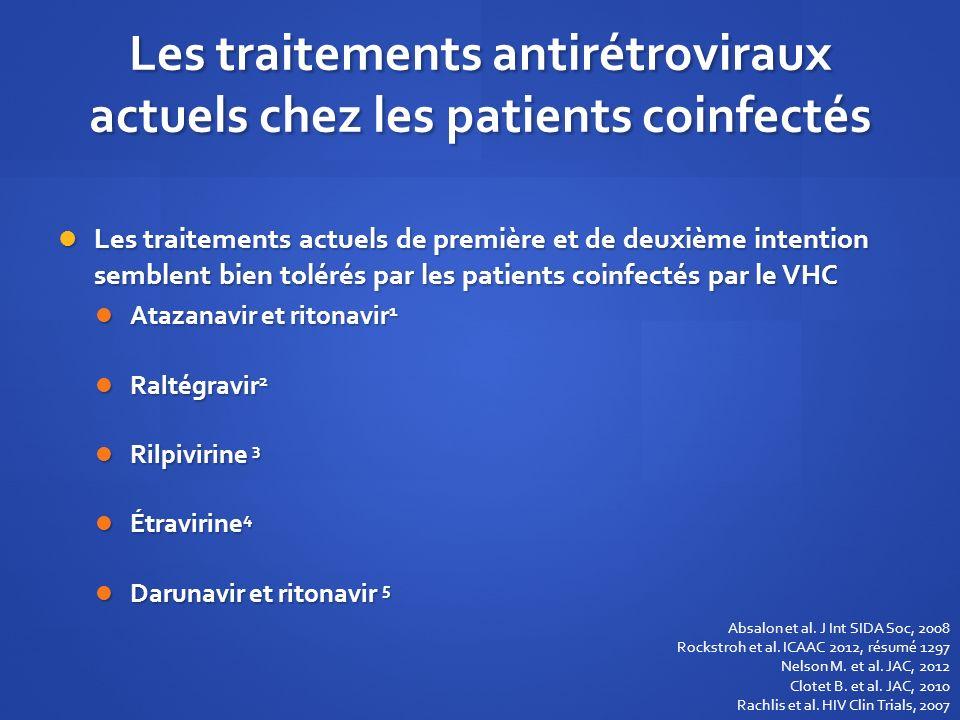 Les traitements antirétroviraux actuels chez les patients coinfectés