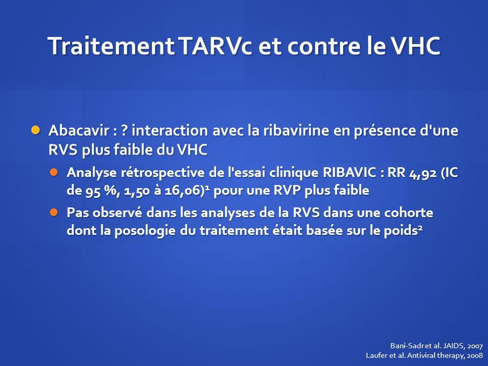 Traitement TARVc et contre le VHC
