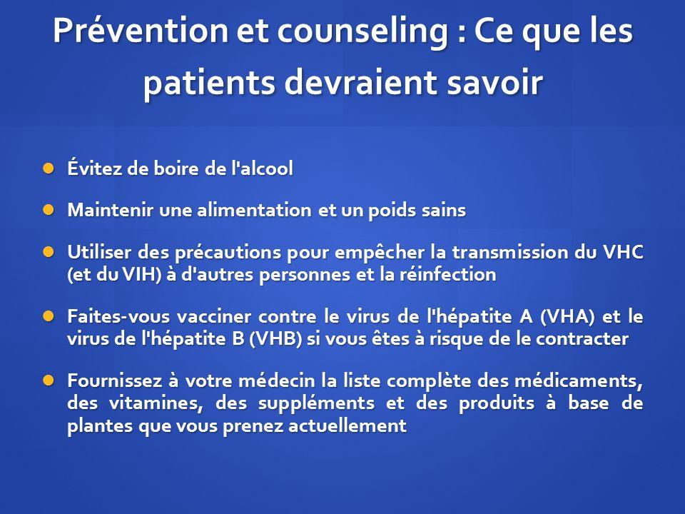 Prévention et counseling : Ce que les patients devraient savoir