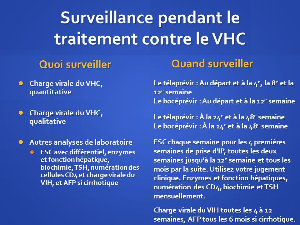 Surveillance pendant le traitement contre le VHC