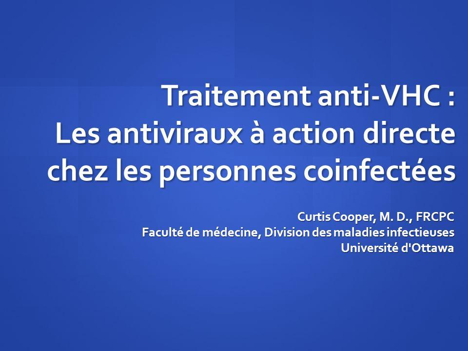 Traitement anti-VHC : Les antiviraux à action directe chez les personnes coinfectées
