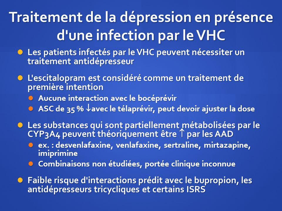 Traitement de la dépression en présence d une infection par le VHC