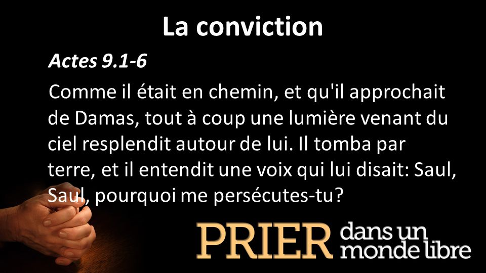 La conviction