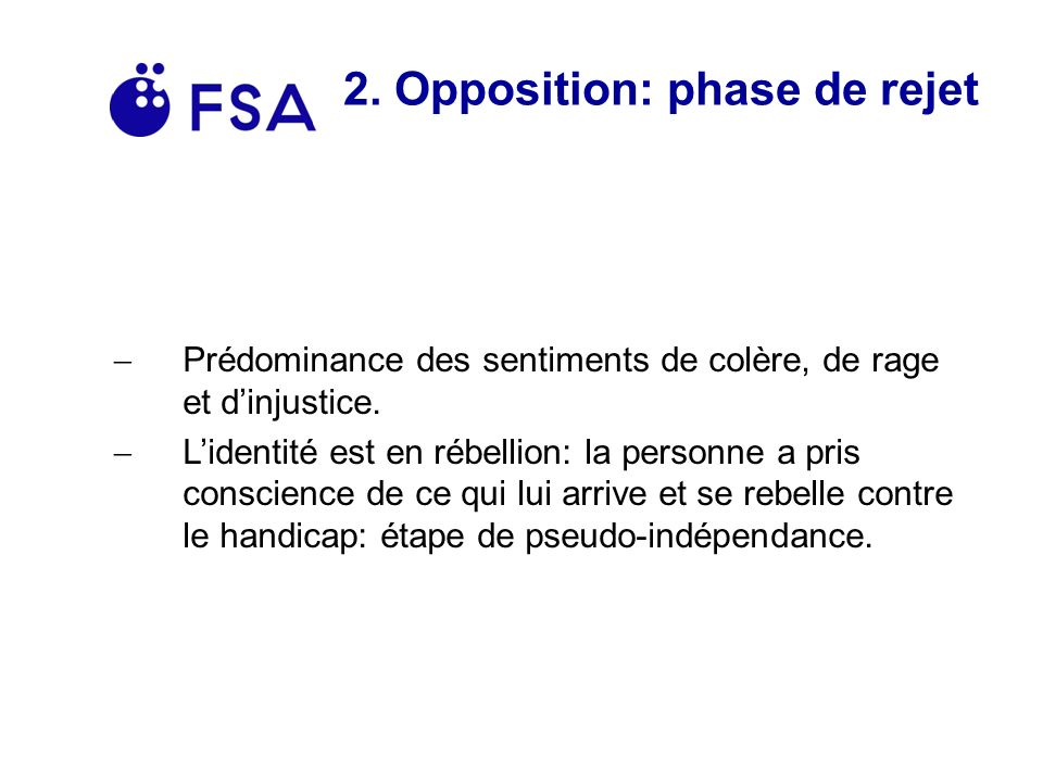 2. Opposition: phase de rejet