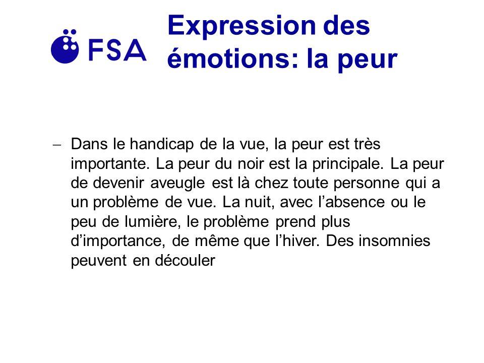 Expression des émotions: la peur