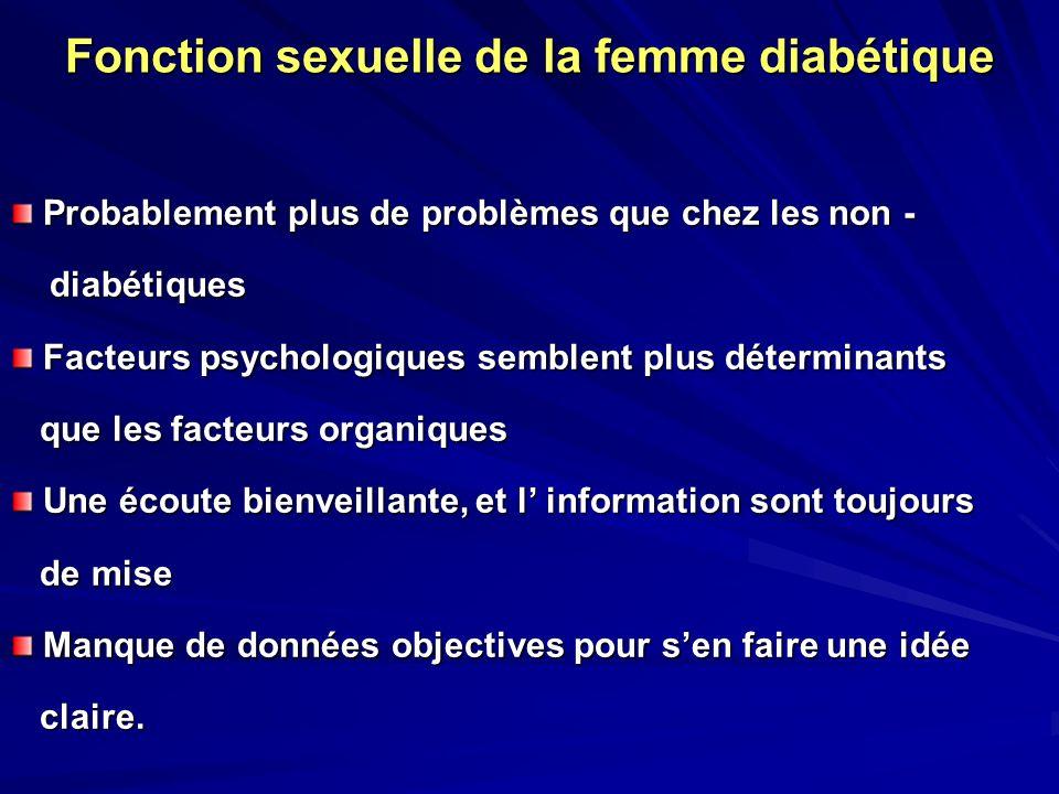 Fonction sexuelle de la femme diabétique