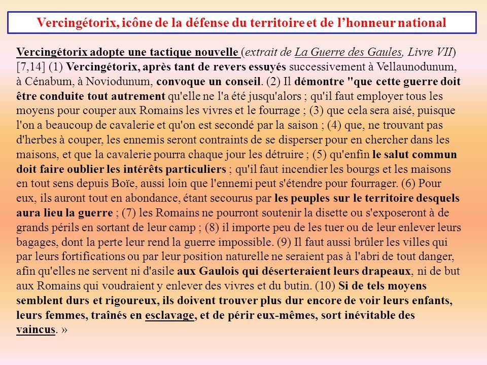Vercingétorix, icône de la défense du territoire et de l'honneur national