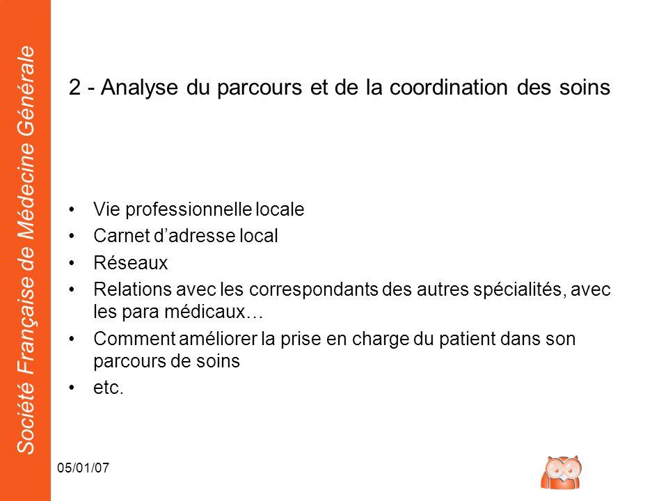 2 - Analyse du parcours et de la coordination des soins