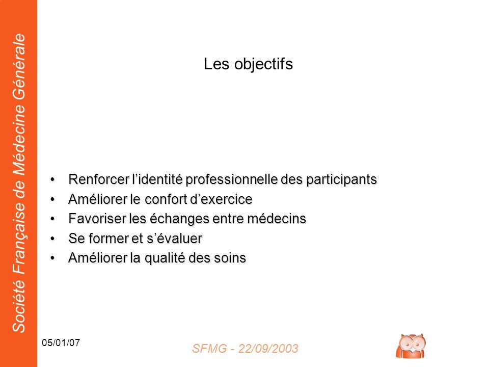 Les objectifs Renforcer l'identité professionnelle des participants