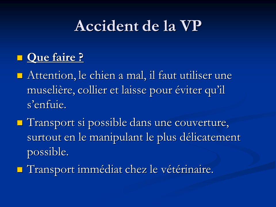 Accident de la VP Que faire