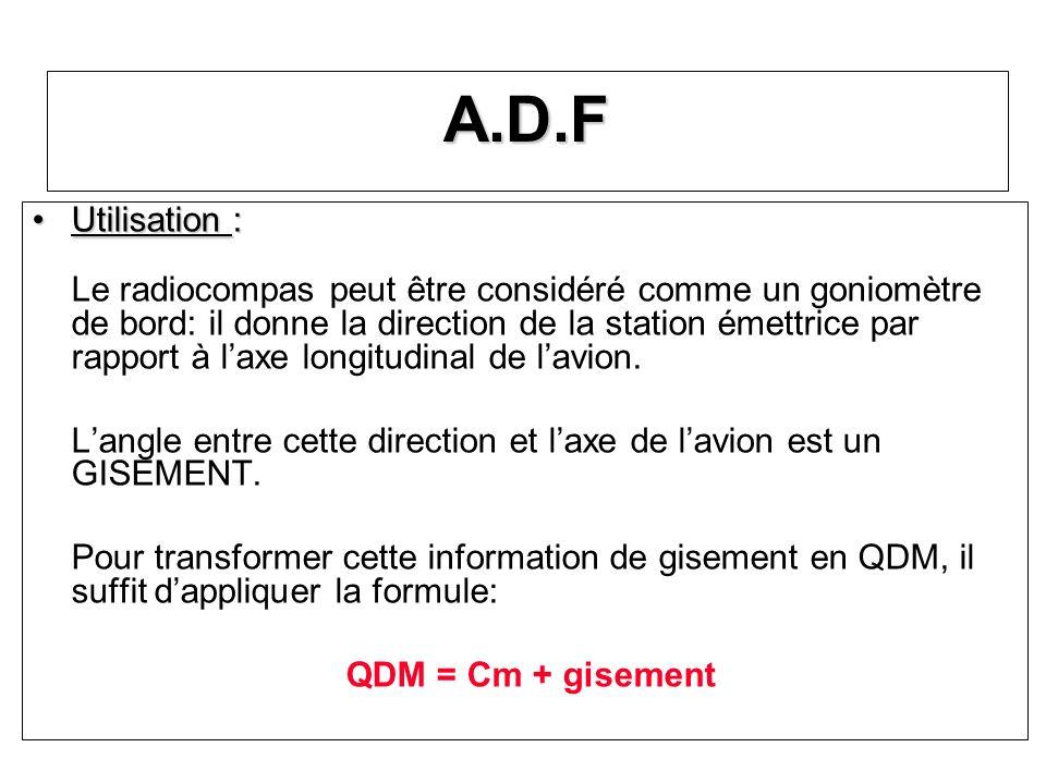 A.D.F Utilisation :