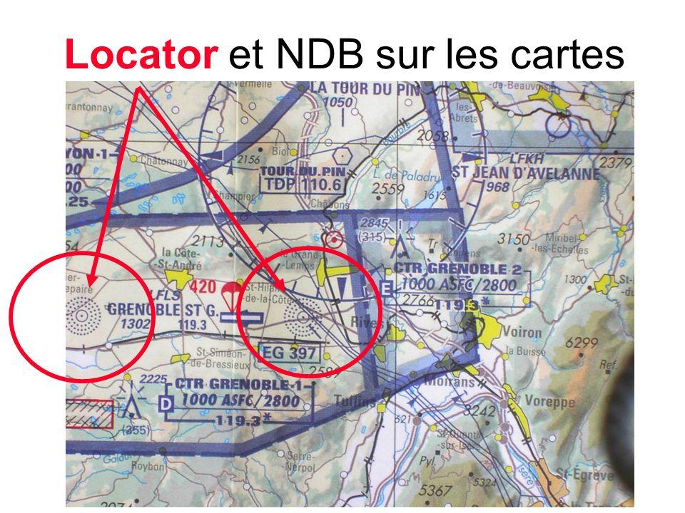 Locator et NDB sur les cartes