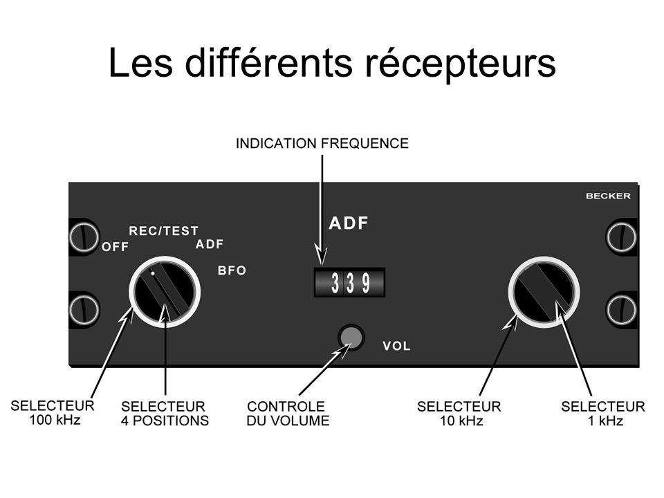 Les différents récepteurs