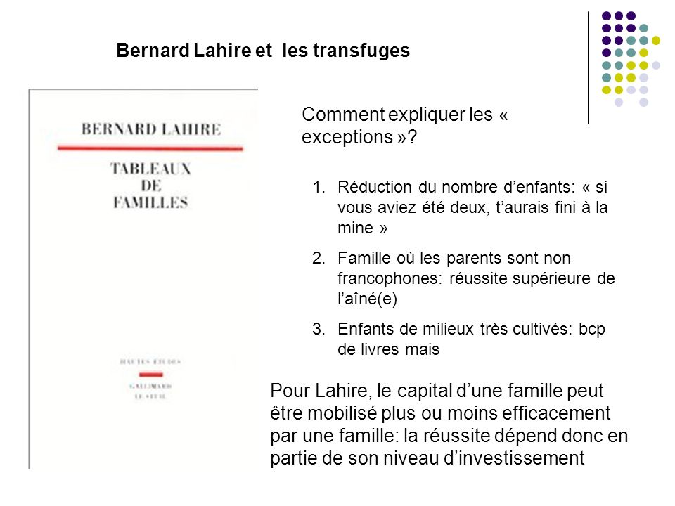Bernard Lahire et les transfuges
