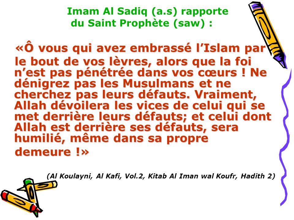 «Ô vous qui avez embrassé l'Islam par