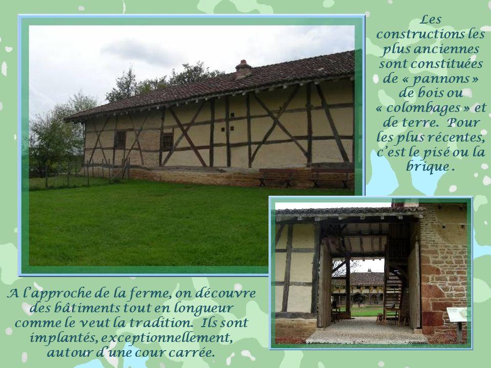 Les constructions les plus anciennes sont constituées de « pannons » de bois ou « colombages » et de terre. Pour les plus récentes, c'est le pisé ou la brique .