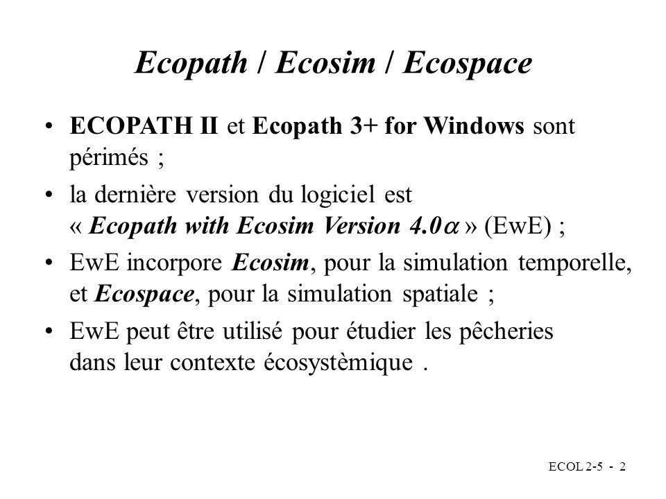 Ecopath / Ecosim / Ecospace