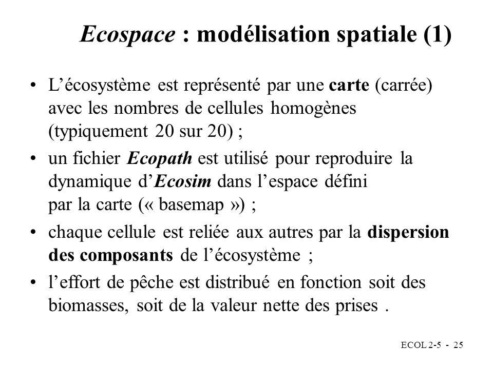 Ecospace : modélisation spatiale (1)
