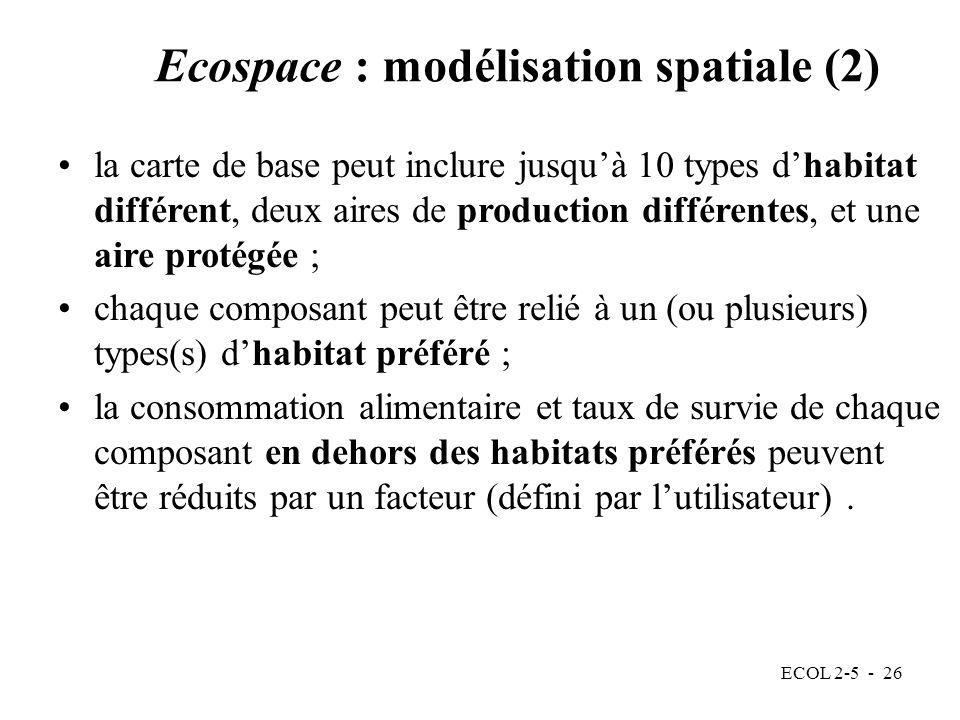 Ecospace : modélisation spatiale (2)