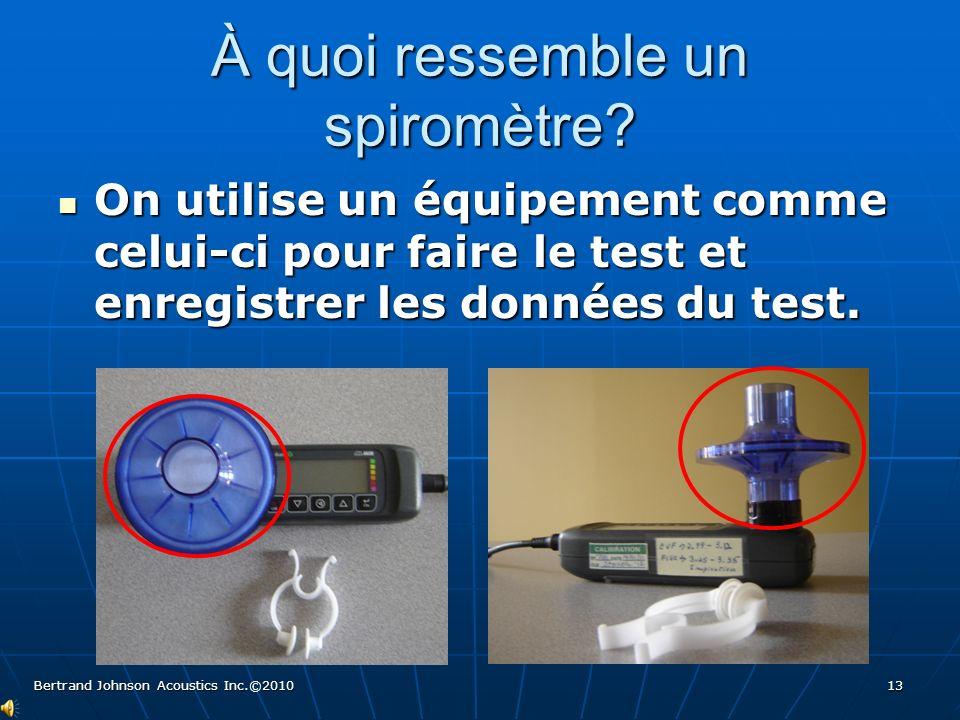 Et le test… c'est quoi L'infirmière place un pince nez pour éviter les fuites d'air par le nez au moment d'expulser l'air.