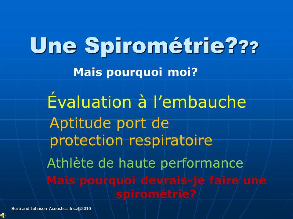 Qu'est ce qu'une spirométrie