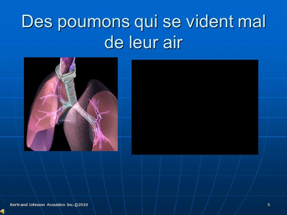 Des poumons : tuyaux d'entrée et de sortie d'air restreint