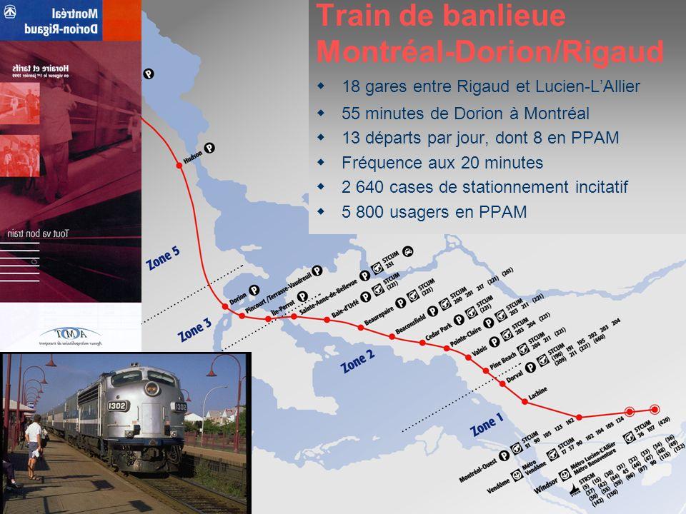 Services ciblés Train de banlieue Montréal-Dorion/Rigaud