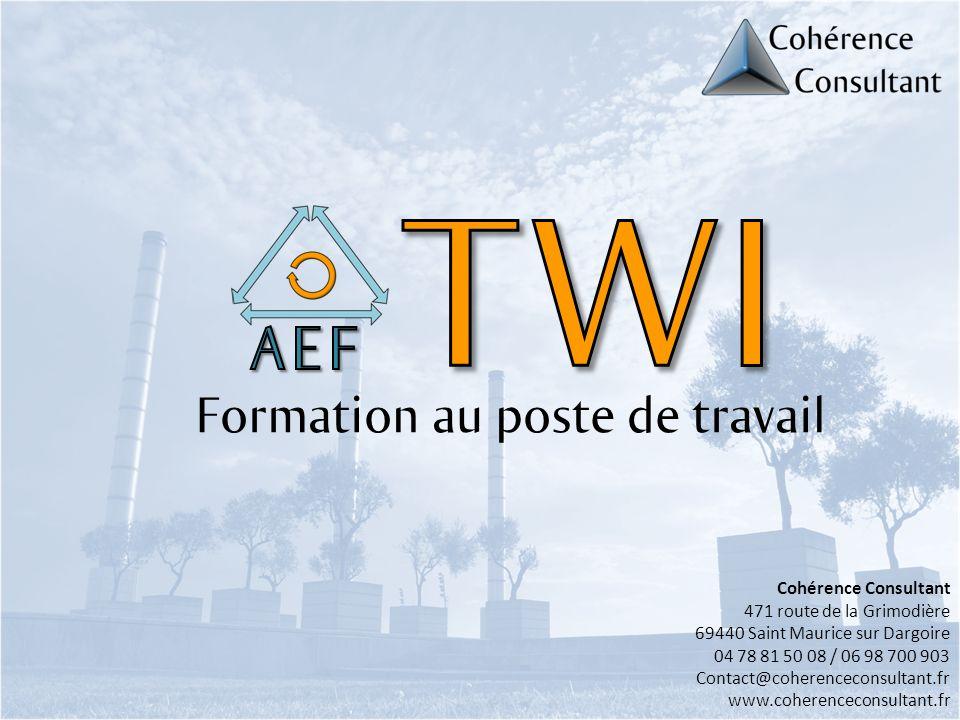 TWI AEF Formation au poste de travail Cohérence Consultant