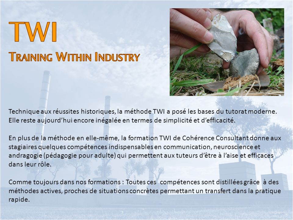 TWI Training Within Industry